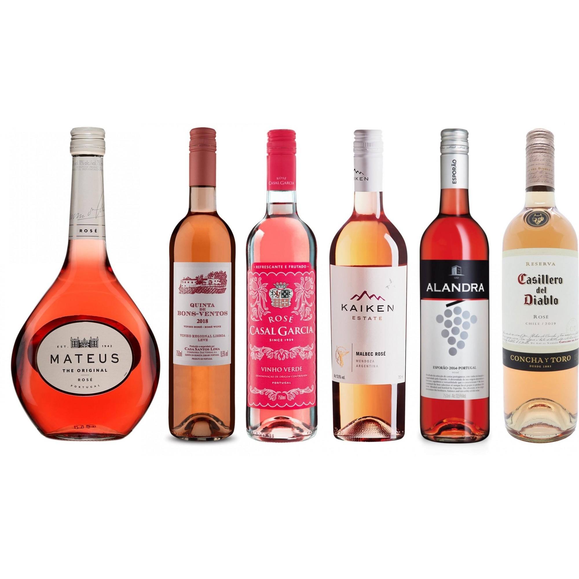 KIT EXPERIENCIA ROSE 1 - DINHO WINE BOX