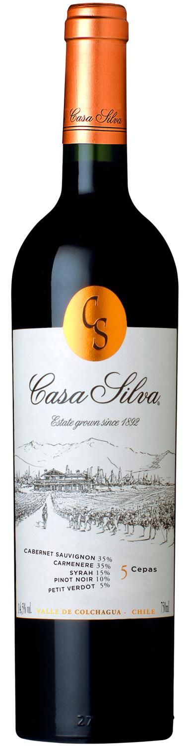 VINHO CASA SILVA 5 CEPAS 750ML