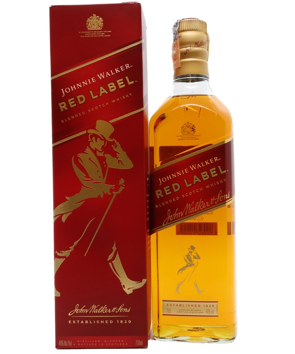WHISKY JHONNIE WALKER RED LABEL 750ML