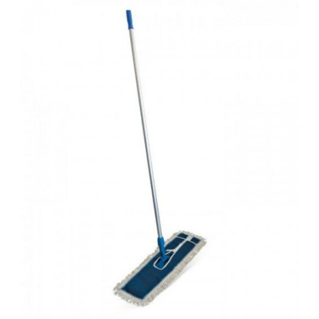 02 Mop Po Algodão 60cm completo ( cabo+suporte+refil)