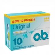 Absorvente Interno Médio Original OB com 8 unidades