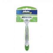 Barbeador Prestobarba Gillette Sensitive Verde