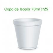 Copo de Isopor (Térmico) 70ml com 25 unidades