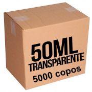 Copo Plástico Transparente 50ml Caixa com 5000 copos