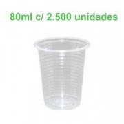 Copo Plástico Transparente 80ml Caixa com 2.500 copos