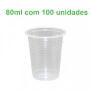 Copo Plástico Transparente 80ml Pacote com 100 copos