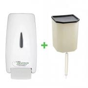 Dispenser Classic COM Reservatório para Sabonete Líquido e Álcool em Gel