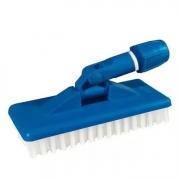 Escova de Nylon com Suporte Limpa Tudo Cor Azul - Limpeza Leve
