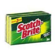Esponja Dupla Face Scotch Brite c/3