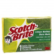 Esponja Dupla Face Scotch Brite c/3