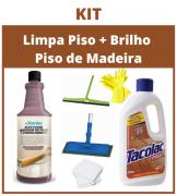 Kit Limpa + Brilho Para Piso de Madeira