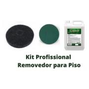 Kit Removedor De Cera + Disco Preto 350mm + Disco Verde