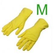 Luva Latex Multiuso Amarela para Limpeza Tamanho M