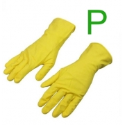 Luva Latex Multiuso Amarela para Limpeza Tamanho P