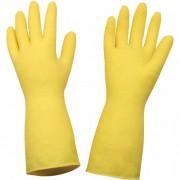 Luva Latex Multiuso Amarela Econômica para Limpeza