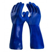 Luva PVC - 35cm - Cor Azul