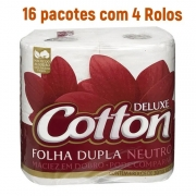 Papel Higiênico Cotton Folha Dupla com 64 rolos