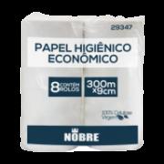 Papel Higiênico Rolão Super Luxo Nobre 100% Celulose 300m c/8