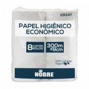 Papel Higiênico Rolão Super Luxo Nobre Goedert 100% Celulose 300m com 8 bobinas