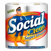 Papel Toalha Cozinha Social Clean