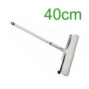 Rodo Combinado de Alumínio - Limpa Vidro - 40cm