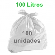 Saco de Lixo Branco 100 litros 100 unidades Tipo Médio