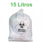 Saco de Lixo Hospitalar Infectante 15 Litros com 100 unidades