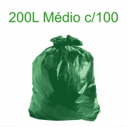 Saco de Lixo Verde Médio - 200 Litros