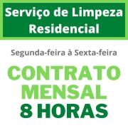 Serviço de Limpeza Residencial - Contrato Mensal - 8 Horas - Segunda à Sexta-Feira