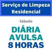 Serviço de Limpeza Residencial - Diária Avulsa - 8 Horas - Sábado