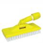 Escova de Nylon com Suporte Limpa Tudo Cor Amarela - Limpeza Leve