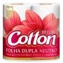 Papel Higiênico Cotton Folha Dupla com 4 rolos