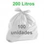 Saco de Lixo Branco 200 litros 100 unidades Tipo Médio