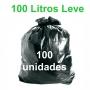 Saco de Lixo Preto 100 litros 100 unidades Tipo Leve