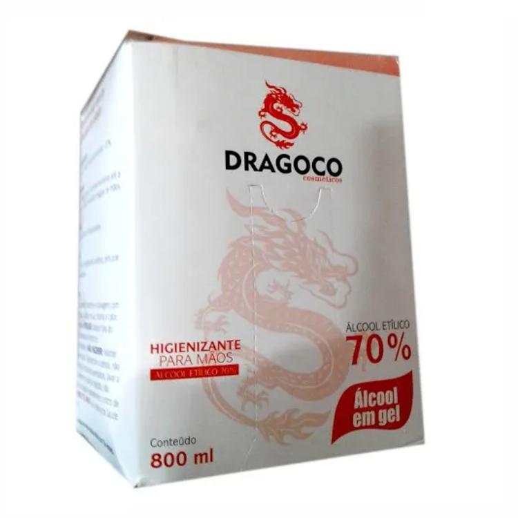 Álcool em Gel 70º Antisséptico Higienizante Dragoco 800ml