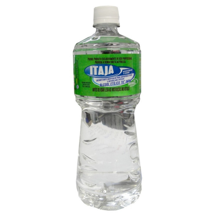 Álcool Líquido 70º Antisséptico 1L Marca Itajá