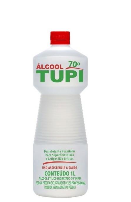 Álcool Líquido 70º Antisséptico 1L Marca Tupi