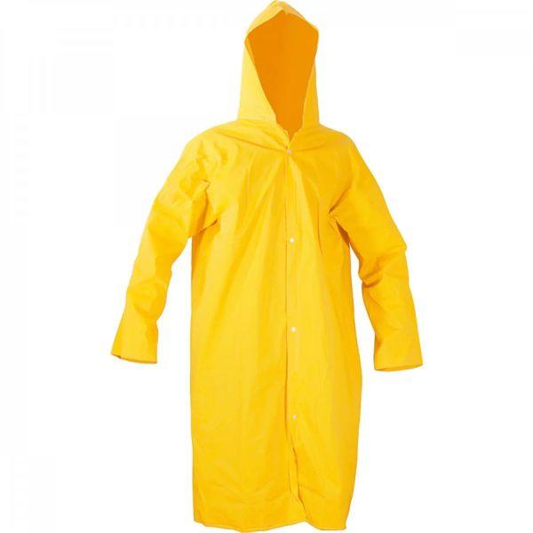 Capa de Chuva Amarela de PVC Com Forro