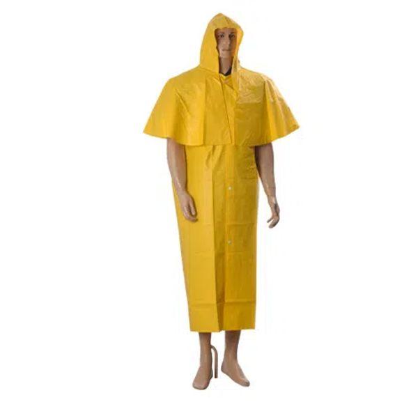 Capa de Chuva de PVC Amarela laminada MORCEGO Sem Forro