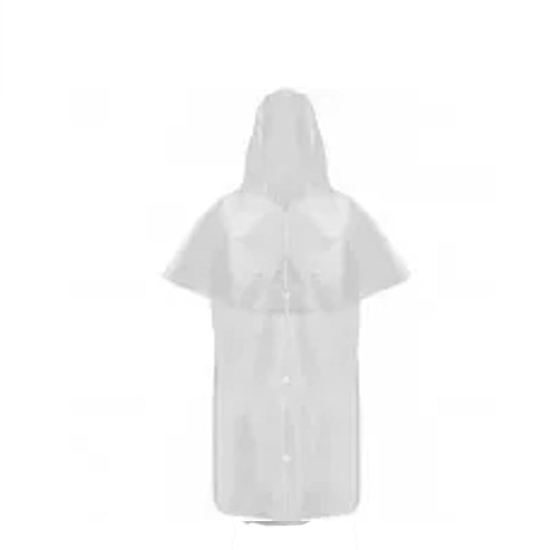 Capa de Chuva de PVC Transparente Laminada MORCEGO Sem Forro