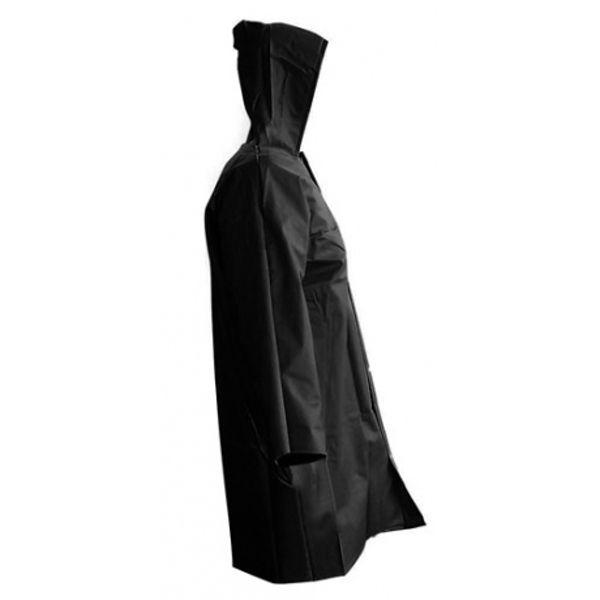 Capa de Chuva Preta de PVC Com Forro - Tamanho G
