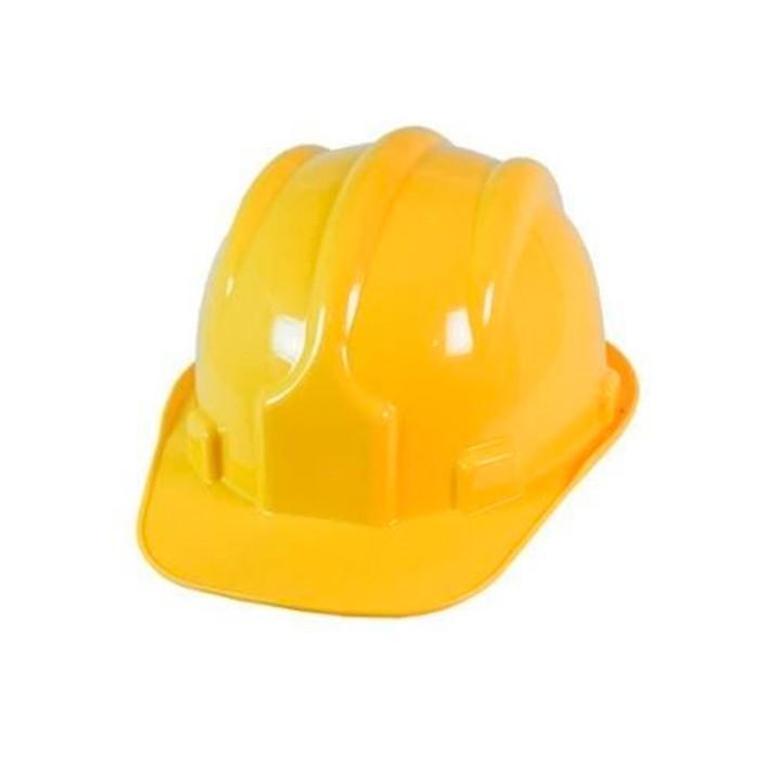 Capacete Amarelo com suporte (carneira) Aba Frontal