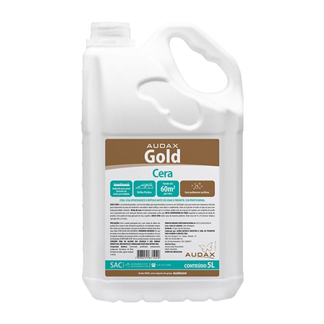 Cera Líquida Incolor Impermeabilizante Audax Gold 5L