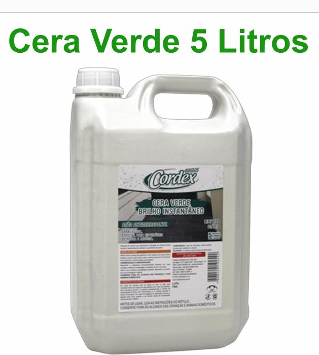 Cera Líquida Verde zBrilho Instantâneo Cordex 5L