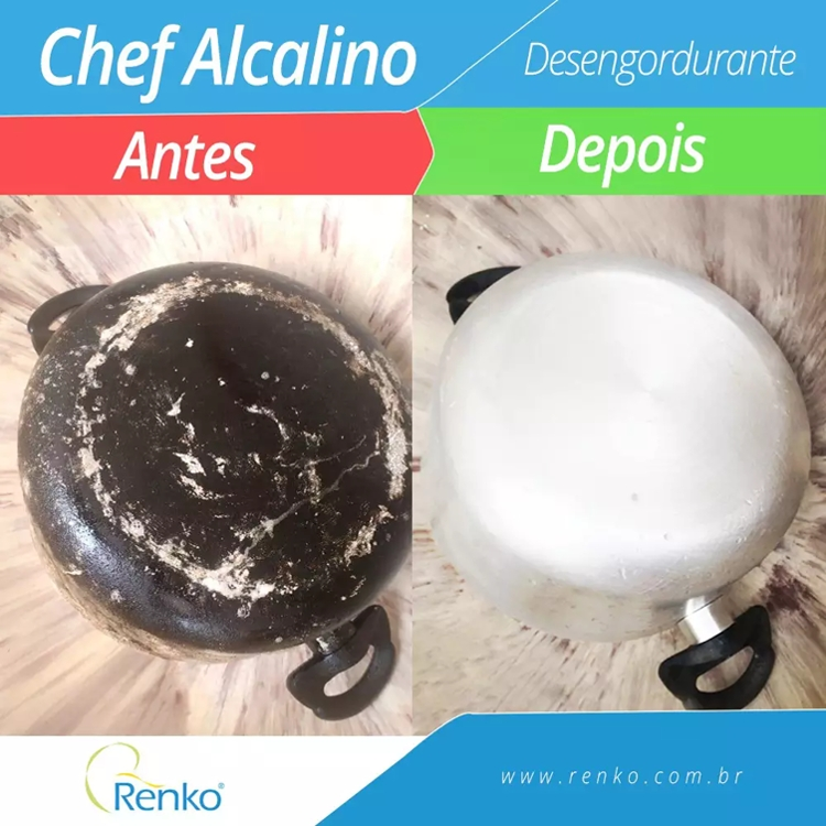 Chef Alcalino - Detergente Desengordurante Renko - 1:30 - 1 Litro