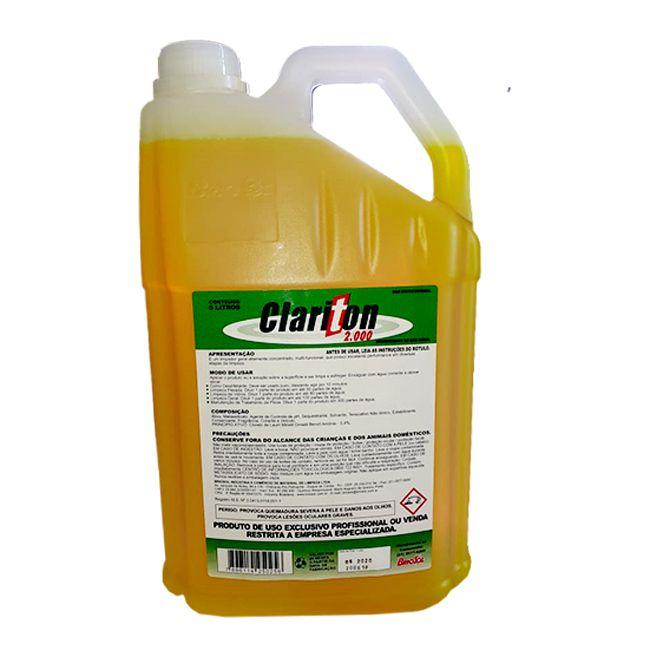 Clariton 2000 5L - Limpa Piso e Parede - Desengordurante Altamente Concentrado