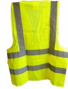 Colete Refletivo Amarelo de Alta Visibilidade Com Bolso Classe 2 - Tamanho G