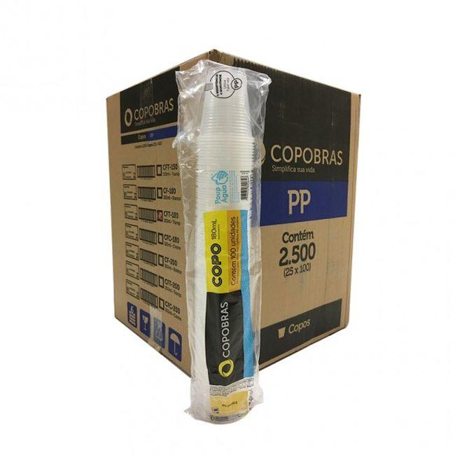 Copo Plástico Copobrás PP 200ml c/2500