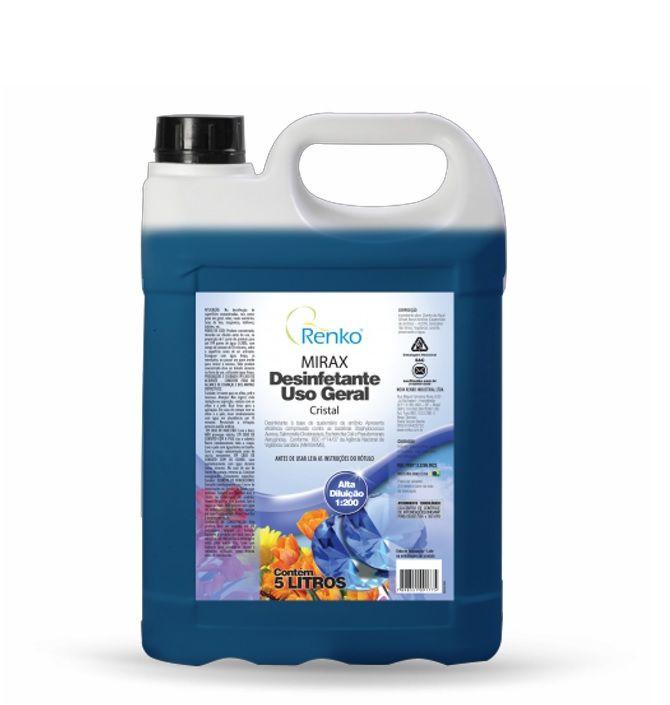 Desinfetante Concentrado Mirax - 5 Litros 1:200 - Cristal