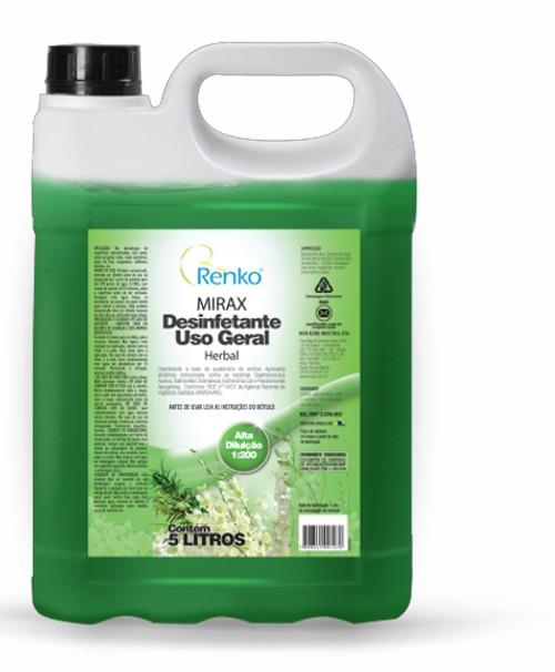 Desinfetante Concentrado Mirax - 5 Litros 1:200 - Herbal